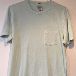 Abercrombie & Fitch Men's Aqua T-shirt Size M